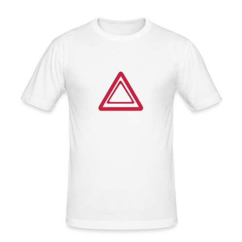 Warning (white version) - T-shirt près du corps Homme