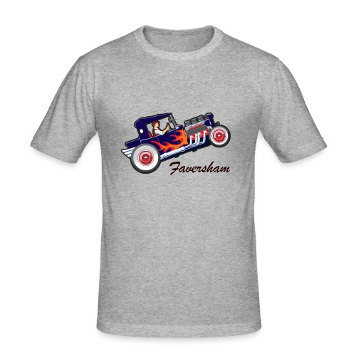 Faversham Hot Rod - Men's Slim Fit T-Shirt