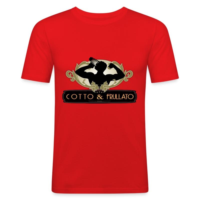 T-Shirt uomo Cotto & Frullato - Maglietta aderente da uomo