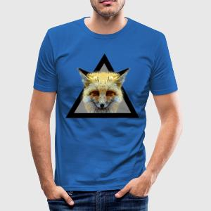 Hipster Fox triangle / What does the fox say? T-Sh - Men's Slim Fit T-Shirt
