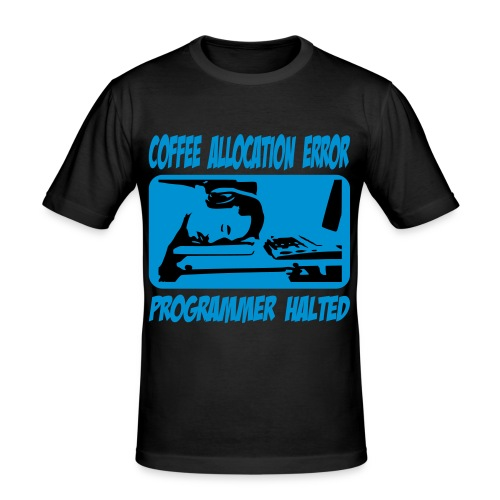Coffee-Error Slim Fit T-Shirt (Male) - Männer Slim Fit T-Shirt