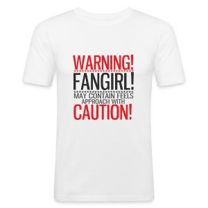 Warning Fangirl! - Men's Slim Fit T-Shirt