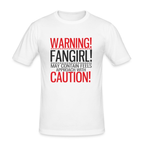 Warning Fangirl! - Men's Slim Fit T-Shirt