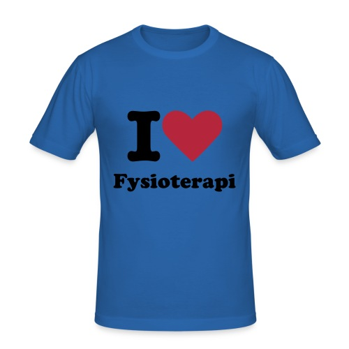 I love Fysioterapi slim T-shirt - Men's Slim Fit T-Shirt