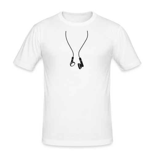 MusicIsLife - Tee-shirt col en U - T-shirt près du corps Homme