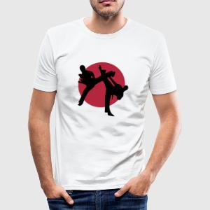 Martial arts, Karate, Kick Boxing, Judo, Taekwondo - Men's Slim Fit T-Shirt