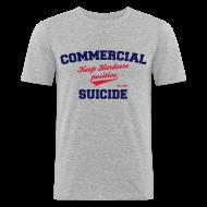 T-Shirts ~ Männer Slim Fit T-Shirt ~ Positive Shirt White Grey