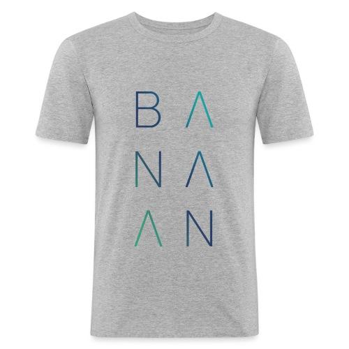 BANAAN/02 mannen slimfit - slim fit T-shirt