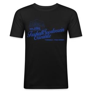 Männer Retro Style gelb - Rundhals - Männer Slim Fit T-Shirt