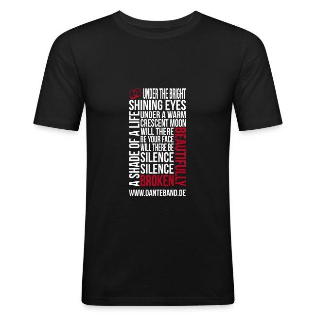 T-shirt Men Slim Fit - beautifully broken - black