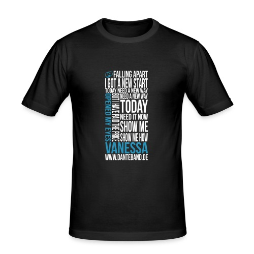 T-shirt Men Slim Fit - Vanessa - black - Männer Slim Fit T-Shirt