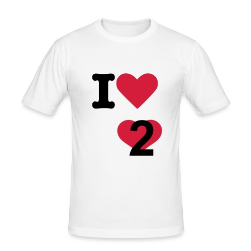 I love to love - Men's Slim Fit T-Shirt