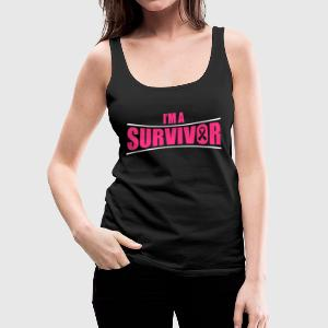 I'm a survivor Tops - Women's Premium Tank Top