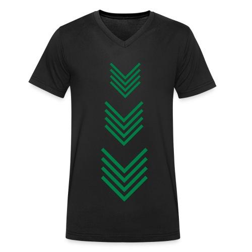 Grüne Pfeile Hemd - Männer Bio-T-Shirt mit V-Ausschnitt von Stanley & Stella