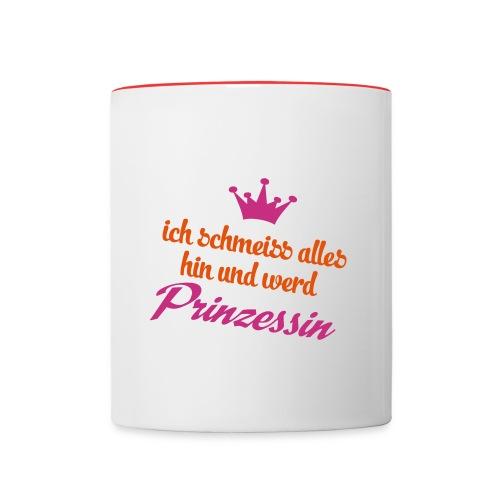 Prinzessin - Tasse zweifarbig