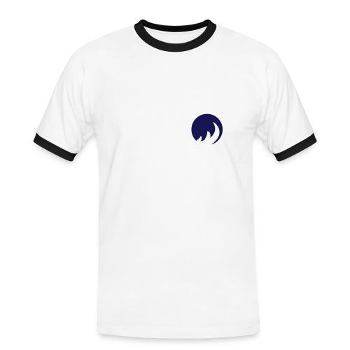 Slim Contrast Circle Blanc/Bleu - T-shirt contrasté Homme