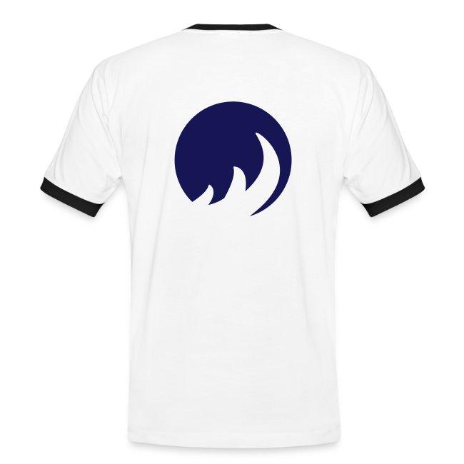 Slim Contrast Circle Blanc/Bleu