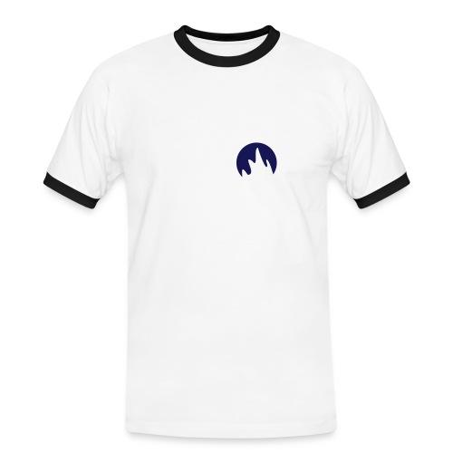 Slim Contrast Flamme Blanc/Bleu - T-shirt contrasté Homme