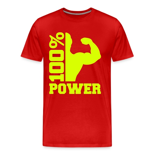 100% POWER - Premium T-skjorte for menn