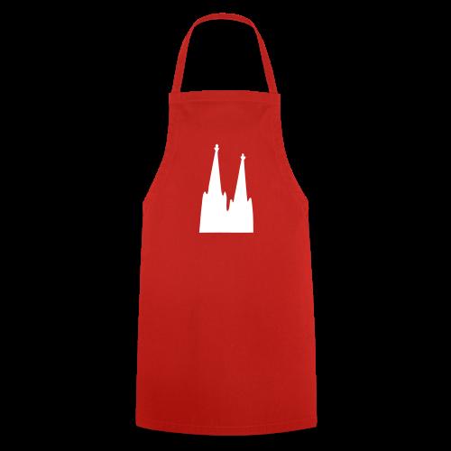 Köln Schürze Kölner Dom (Rot/Weiß) - Kochschürze