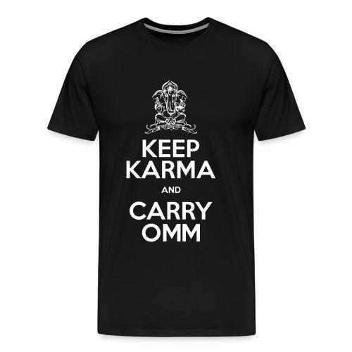 Keep Karma and Carry Omm Man Premium - Maglietta Premium da uomo