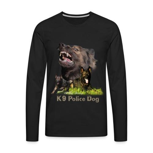 Schäferhund-Police K9-Motiv - Männer Premium Langarmshirt