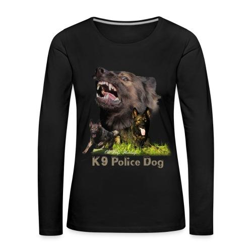 Schäferhund-Police K9-Motiv - Frauen Premium Langarmshirt