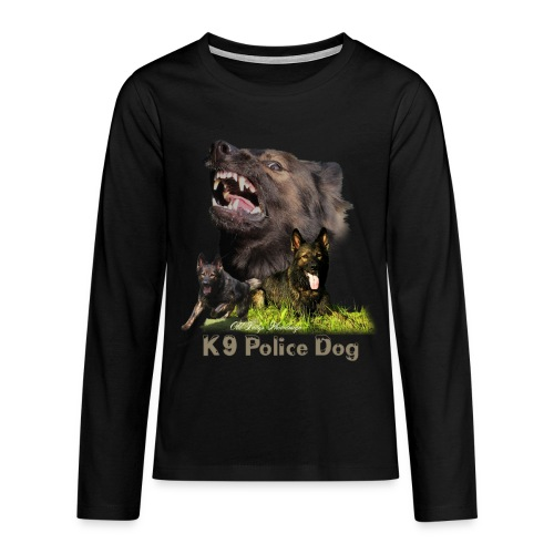 Schäferhund-Police K9-Motiv - Teenager Premium Langarmshirt