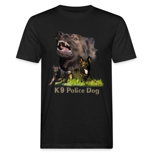 Schäferhund-Police K9-Motiv - Männer Bio-T-Shirt