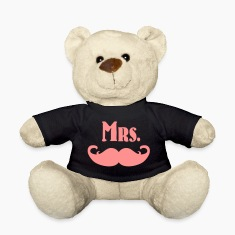 Mrs. Mustache Teddy Bear Toys