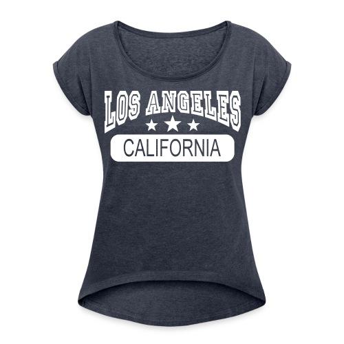 Tee-Shirt américan - T-shirt à manches retroussées Femme