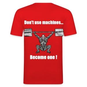 T-shirt Robot Dos Moulant - Tee shirt près du corps Homme