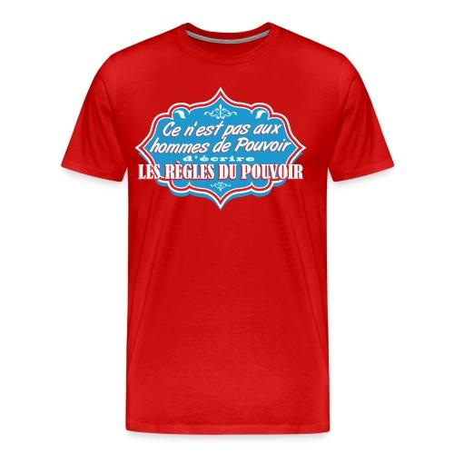 Hommes de Pouvoir Red - T-shirt Premium Homme
