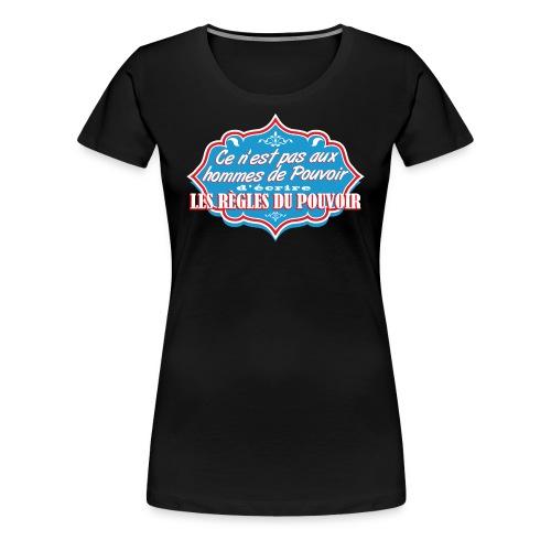 Hommes de Pouvoir F Red - T-shirt Premium Femme