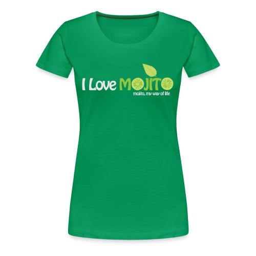 I LOVE MOJITO - Modèle Femme VERT - T-shirt Premium Femme