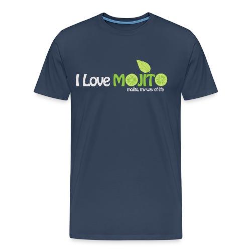 I LOVE MOJITO - Modèle Homme BLEU - T-shirt Premium Homme
