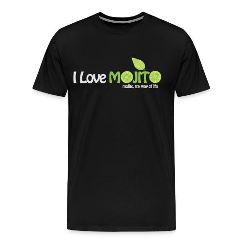 I LOVE MOJITO - Modèle Homme NOIR  - T-shirt Premium Homme