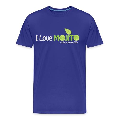 I LOVE MOJITO - Modèle Homme VIOLET - T-shirt Premium Homme