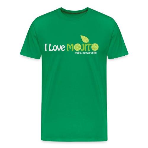 I LOVE MOJITO - Modèle Homme VERT - T-shirt Premium Homme