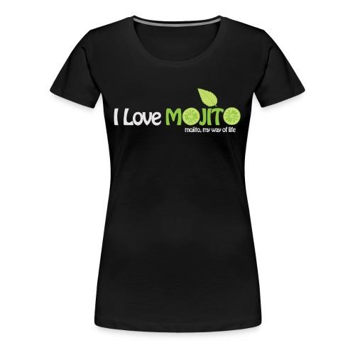 I LOVE MOJITO - Modèle Femme NOIR  - T-shirt Premium Femme