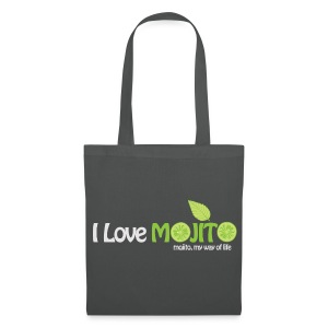 I LOVE MOJITO - Sac GRIS - Tote Bag
