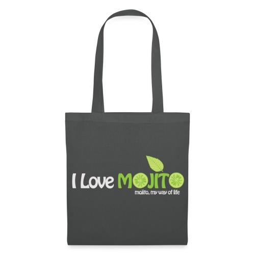 I LOVE MOJITO - Sac GRIS - Tote Bag