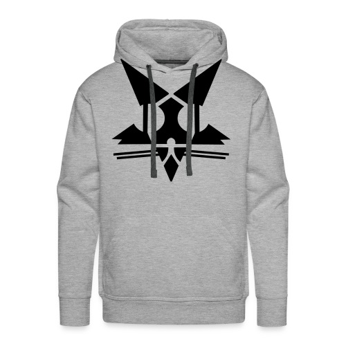 CAT TAG GREY Hoody - Men's Premium Hoodie