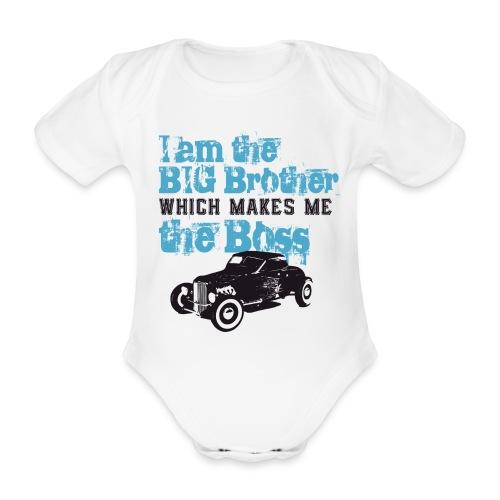 Økologisk kortermet baby-body