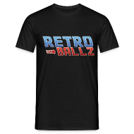 T-Shirts ~ Men's T-Shirt ~ [Retro ball z] logo pixel