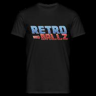 T-Shirts ~ Men's T-Shirt ~ [Retro ball z] logo pixel