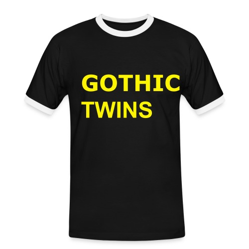 Normal Gothic Twins - Männer Kontrast-T-Shirt