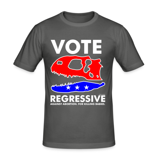 Vote REGRESSIVE! - Men's Slim Fit T-Shirt