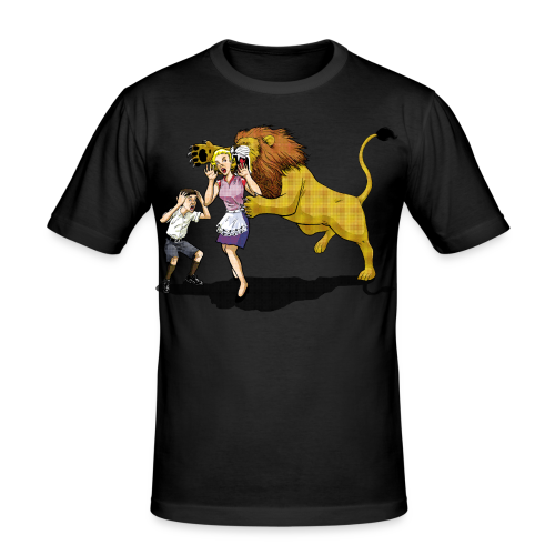 LION ATTACK - Men's Slim Fit T-Shirt
