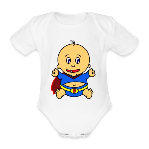 Body ecologico per neonato a manica corta